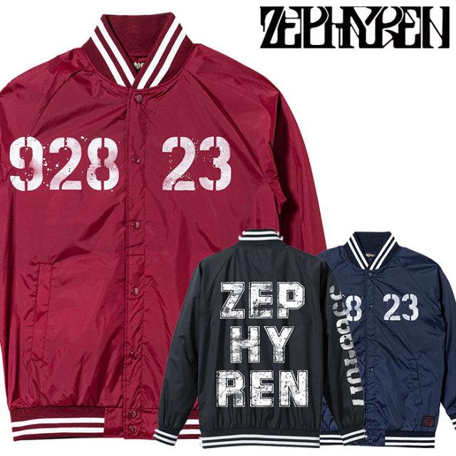 ZEPHYREN(ゼファレン) NYLON STUDIUM JACKET - oldschool - 【2019AUTUMN/WINTER先行予約】 【キャンセル不可】【Z19AA11】【スタ