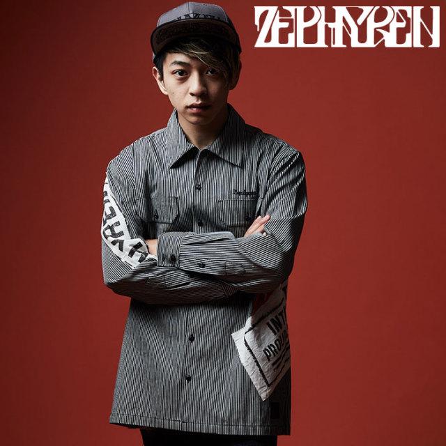 ZEPHYREN(ゼファレン) WORK SHIRT L/S  【2019AUTUMN/WINTER先行予約】 【キャンセル不可】【Z19AD22】【シャツ】