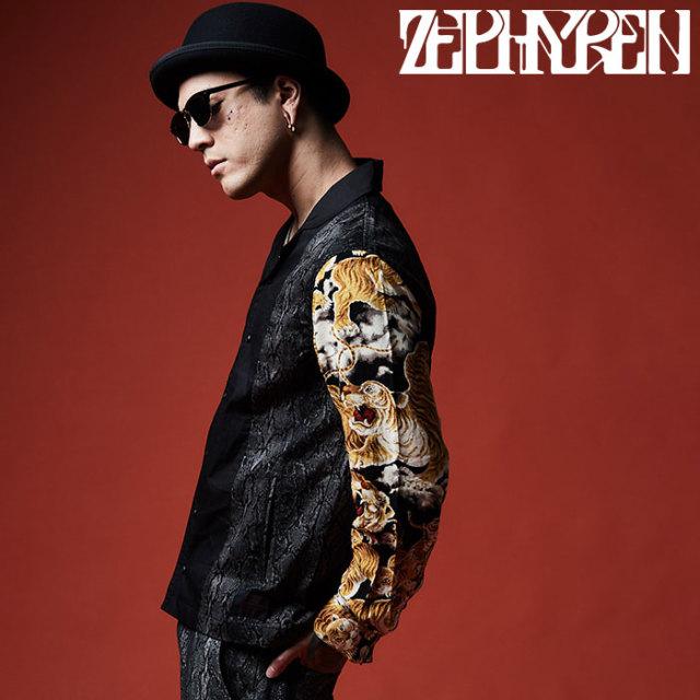 ZEPHYREN(ゼファレン) SWITCHING SHIRT L/S  【2019AUTUMN/WINTER先行予約】 【キャンセル不可】【Z19AD23】【シャツ】