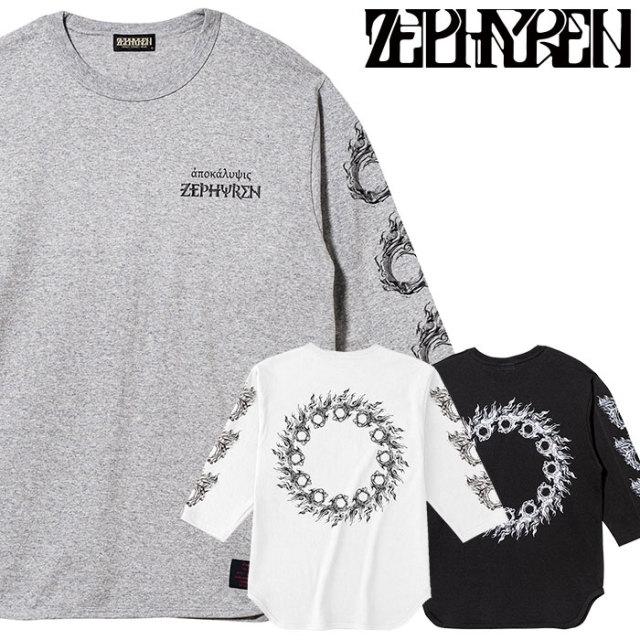 ZEPHYREN(ゼファレン) 7/S TEE - apocalypse - 【2019AUTUMN/WINTER先行予約】 【キャンセル不可】【Z19AM34】【7分袖Tシャツ】