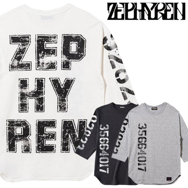ZEPHYREN(ゼファレン) 7/S TEE - oldschool - 【2019AUTUMN/WINTER先行予約】 【キャンセル不可】【Z19AM35】【7分袖Tシャツ】