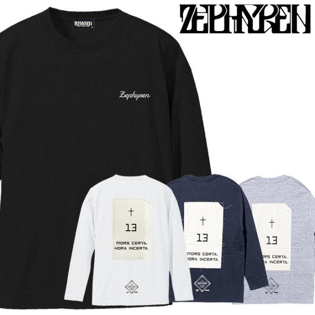 ZEPHYREN(ゼファレン) L/S TEE - Monolith - 【2019AUTUMN/WINTER先行予約】 【キャンセル不可】【Z19AM36】【ロングスリーブTシ