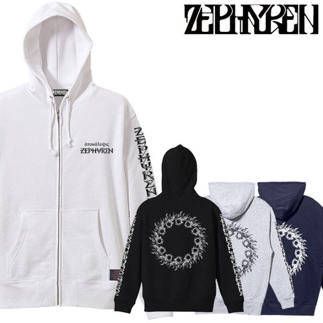 ZEPHYREN(ゼファレン) ZIP PARKA - apocalypse - 【2019AUTUMN/WINTER先行予約】 【キャンセル不可】【Z19AN41】【ジップパーカー