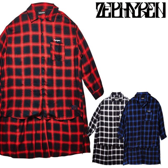 ZEPHYREN(ゼファレン) LONG CHECK SHIRT L/S  【2019AUTUMN/WINTER先行予約】 【キャンセル不可】【Z19PD14】【ロングシャツ】