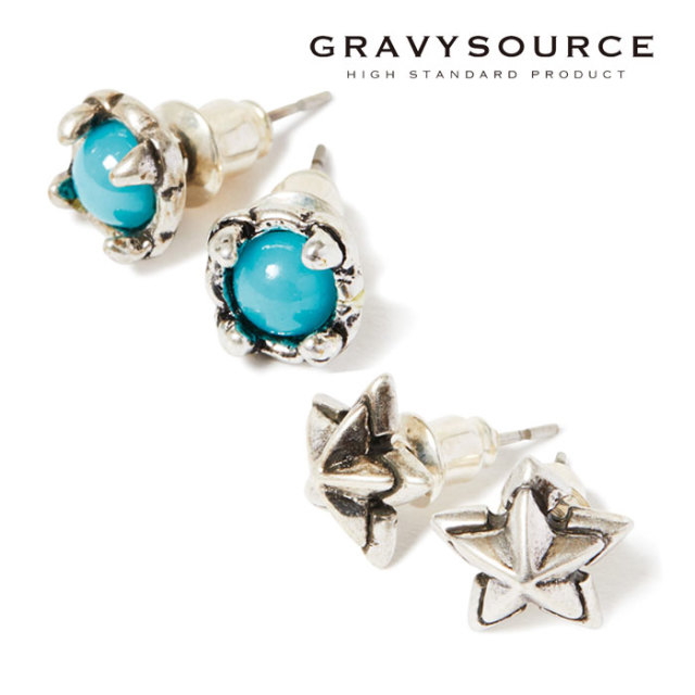 【SALE30%OFF】 GRAVYSOURCE(グレイヴィーソース) TINY PIERCE 【2019HOLIODAY/SPRING新作】【GS19-HAC08】【ピアス】【セール】