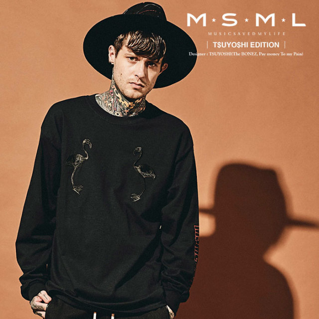 MSML(MUSIC SAVED MY LIFE) LONG SLEEVE TEE 【2019AUTUMN&WINTER先行予約】 【キャンセル不可】【M101-01K5-CL01】 【MSML(MUSI