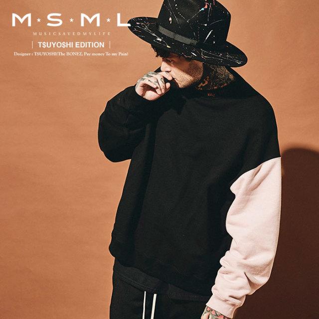 MSML(MUSIC SAVED MY LIFE) BALLOON SWITCHING SWEAT 【2019AUTUMN&WINTER先行予約】 【キャンセル不可】【M101-01K5-CL50】 【M