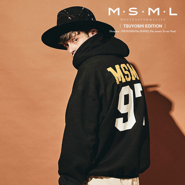 MSML(MUSIC SAVED MY LIFE) BIG HOODIE 【2019AUTUMN&WINTER先行予約】 【キャンセル不可】【M101-01K5-CL51】 【MSML(MUSIC SAV