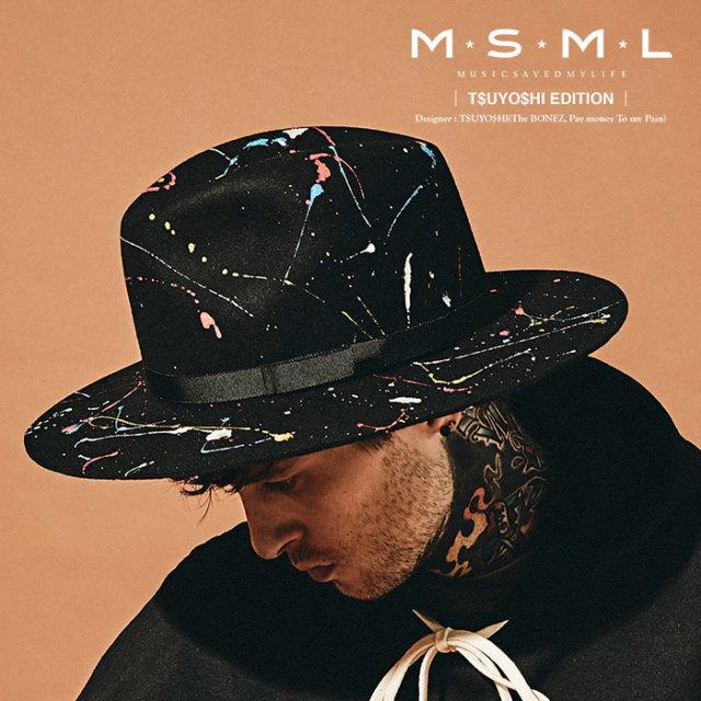 MSML(MUSIC SAVED MY LIFE) SPLASH PAINT HAT 【2019AUTUMN&WINTER先行予約】 【キャンセル不可】【M101-01K5-HW01】 【MSML(MUS
