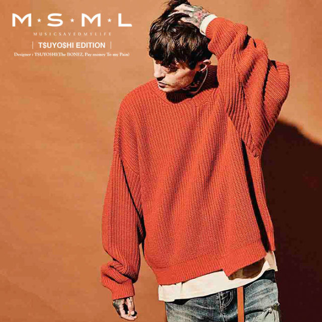 MSML(MUSIC SAVED MY LIFE) ZIP KNIT 【2019AUTUMN&WINTER先行予約】 【キャンセル不可】【M101-01K5-KN01】 【MSML(MUSIC SAVED