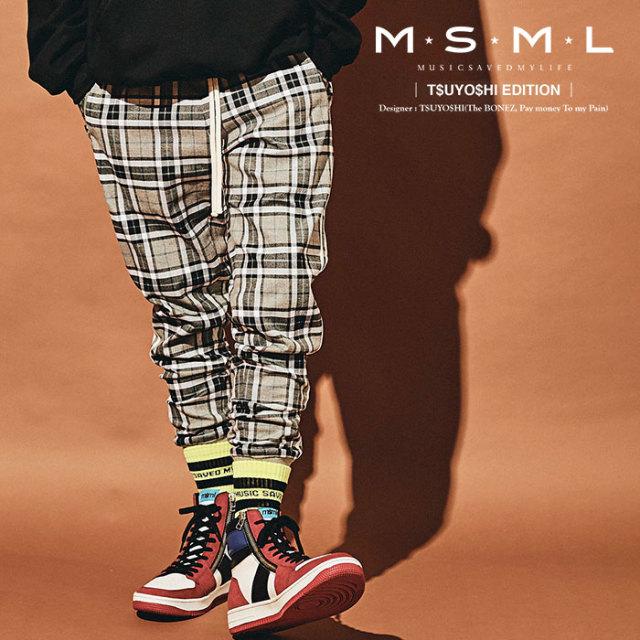 MSML(MUSIC SAVED MY LIFE) 2LINE CHECK PANTS 【2019AUTUMN&WINTER先行予約】 【キャンセル不可】【M101-01K5-PL02】 【MSML(MU