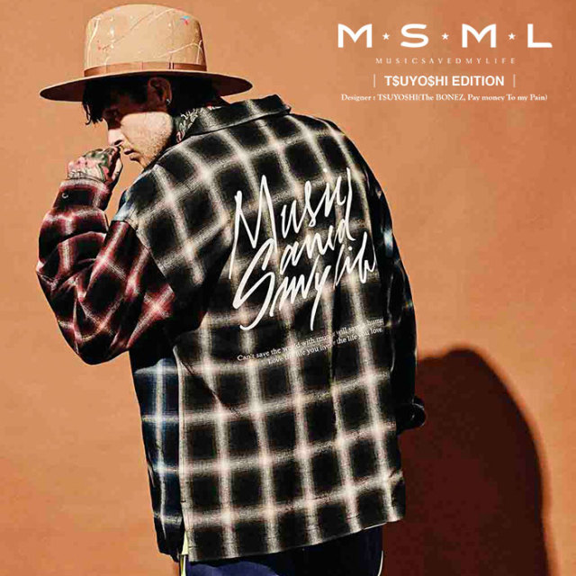 MSML(MUSIC SAVED MY LIFE) CRAZY PATTERN BALLOON OMBRE CHECK SHIRTS 【2019AUTUMN&WINTER先行予約】 【キャンセル不可】【M101