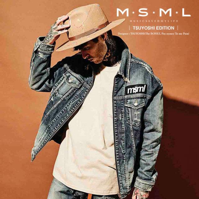 MSML(MUSIC SAVED MY LIFE) ZIP DENIM JACKET 【2019AUTUMN&WINTER先行予約】 【キャンセル不可】【M1A1-01K5-JK01】 【MSML(MUS