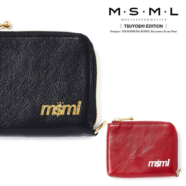 MSML(MUSIC SAVED MY LIFE) ZIP LEATHER WALLET 【2019AUTUMN&WINTER先行予約】 【キャンセル不可】【M1A1-01K5-WB01】 【MSML(M