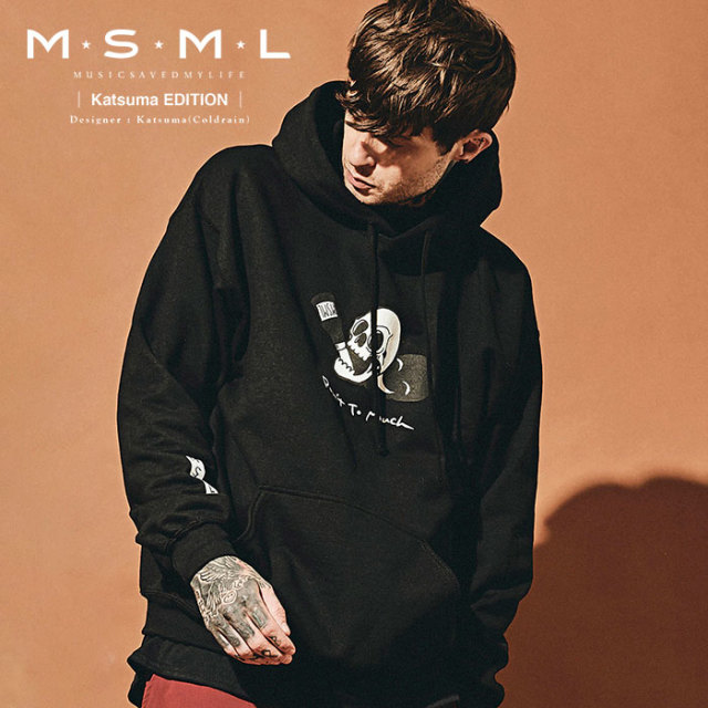 MSML(MUSIC SAVED MY LIFE)  DON'T TOO MUCH  HOODIE 【2019AUTUMN&WINTER先行予約】 【キャンセル不可】【M201-01K5-CL51】 【M