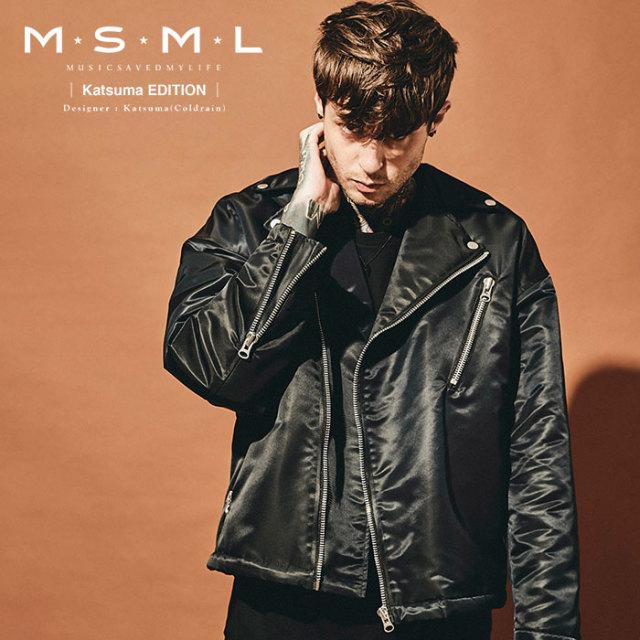 MSML(MUSIC SAVED MY LIFE)  OVERSIZED RIDERS JACKET 【2019AUTUMN&WINTER先行予約】 【キャンセル不可】【M201-01K5-JK01】 【