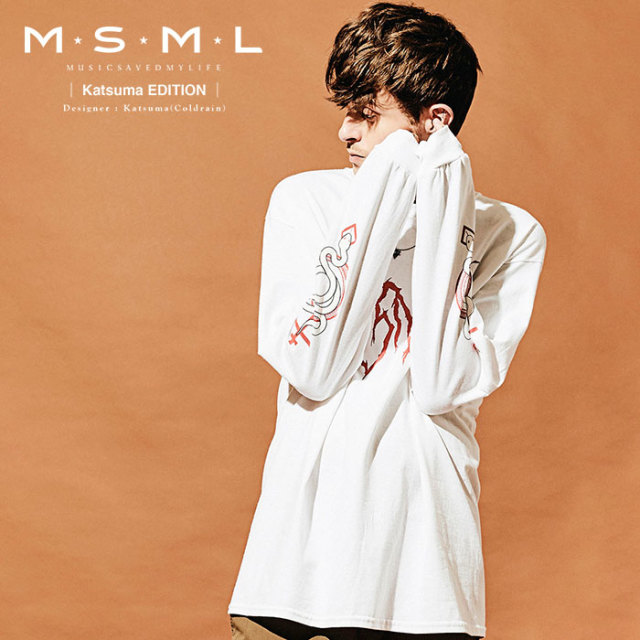 MSML(MUSIC SAVED MY LIFE)  LOGO LONG SLEEVE TEE 【2019AUTUMN&WINTER先行予約】 【キャンセル不可】【M201-01K5-TL01】 【MSM