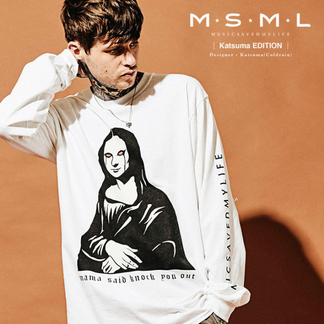 MSML(MUSIC SAVED MY LIFE) MONA LISA LONG SLEEVE TEE 【2019AUTUMN&WINTER先行予約】 【キャンセル不可】【M201-01K5-TL02】