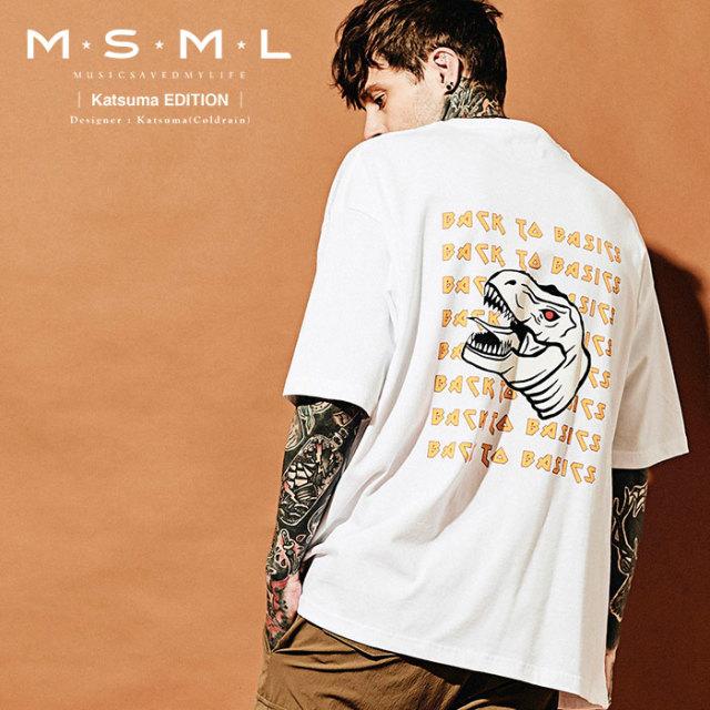 MSML(MUSIC SAVED MY LIFE) BACK TO BASIC BIG TEE 【2019AUTUMN&WINTER先行予約】 【キャンセル不可】【M201-01K5-TS02】 【MSM