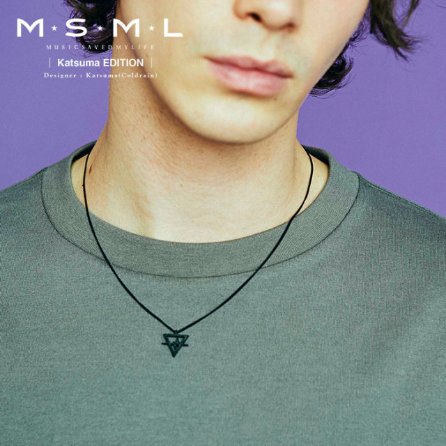MSML(MUSIC SAVED MY LIFE) BLACK NECKLACE 【2019AUTUMN&WINTER先行予約】 【キャンセル不可】【M2A1-01K5-AC01】 【MSML(MUSIC