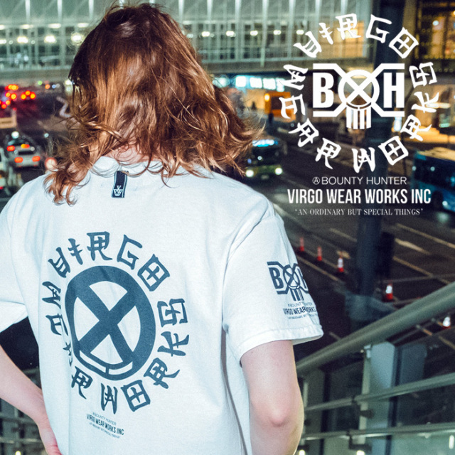 VIRGOwearworks×BOUNTY HUNTER/MOBSTYLES  CHIN CIRCLE LOGO TEE 【Tシャツ】【VG-CB-105】【BOUNTY HUNTER】【2020SS SPOT先行予