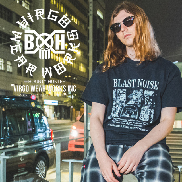 VIRGOwearworks×BOUNTY HUNTER/MOBSTYLES  NOISE TEE 【Tシャツ】【VG-CB-106】【BOUNTY HUNTER】【2020SS SPOT先行予約】【キャン