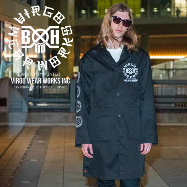 VIRGOwearworks×BOUNTY HUNTER/MOBSTYLES  BxH OLD SKULL COAT 【コート アウター】【VG-CB-108】【BOUNTY HUNTER】【2020SS SPOT