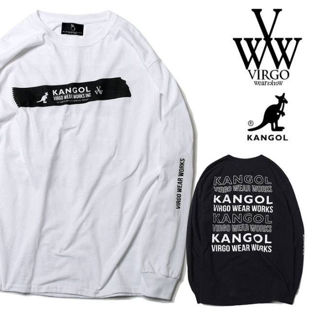VIRGO ヴァルゴ バルゴ KANGOL×VIRGOwearworks BIG TAPE L/S 【2019 SUMMER&EARLY FALL新作】 【VG-CB-83】【ロングスリーブTシャ