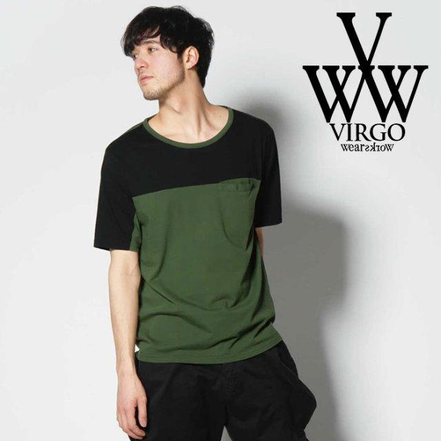 VIRGO ヴァルゴ バルゴ SWITCHING TEE 【2019 SUMMER&EARLY FALL先行予約】 【VG-CUT-389】【キャンセル不可】【Tシャツ】