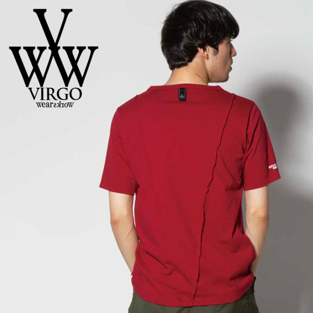 VIRGO ヴァルゴ バルゴ PERFECTION HIDDEN V TEE 【2019 SUMMER&EARLY FALL新作】 【VG-CUT-391】【Tシャツ】