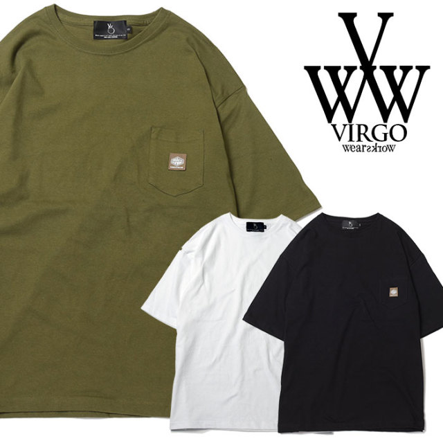 VIRGO ヴァルゴ バルゴ D&D WIDE POCKET TEE 【2019 SUMMER&EARLY FALL新作】 【VG-CUT-395】【Tシャツ】