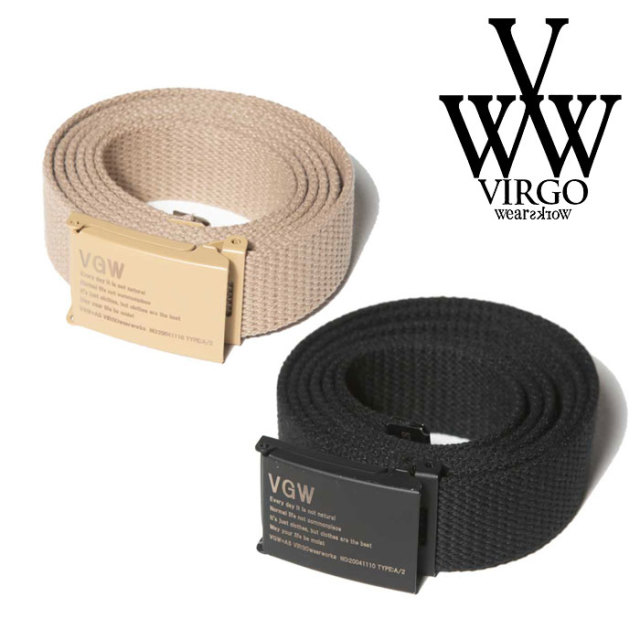 VIRGO ヴァルゴ バルゴ VGW EASY BELT 【2019 SUMMER&EARLY FALL新作】 【VG-GD-601】【ベルト】