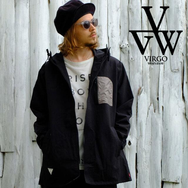 VIRGO ヴァルゴ バルゴ Big neck sell hoodie 【ナイロンジップコート】【VG-JKT-335】【2021SPRING&SUMMER先行予約】【キャンセル