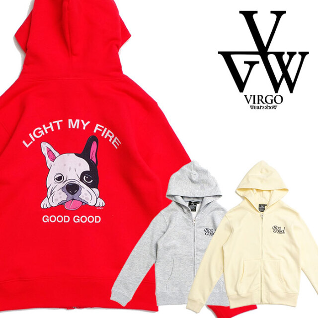 VIRGO ヴァルゴ バルゴ Out tongue  ZIP HOODIE (GOODx2)  【ジップアップパーカー】【キッズ】【VG-KZ-6】【2021SPRING&SUMMER】