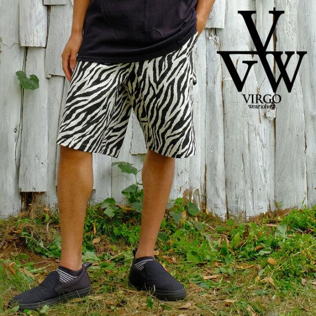 VIRGO ヴァルゴ バルゴ Naughty zebra shorts 【ショートパンツ ゼブラ柄 短パン】【VG-PT-352】【2021SPRING&SUMMER先行予約】【