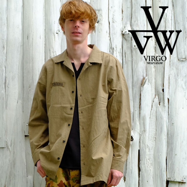VIRGO ヴァルゴ バルゴ Relaxed uniform shirts 【シャツ 長袖】【VG-SH-225】【2021SPRING&SUMMER】【お取り寄せ商品 キャンセル