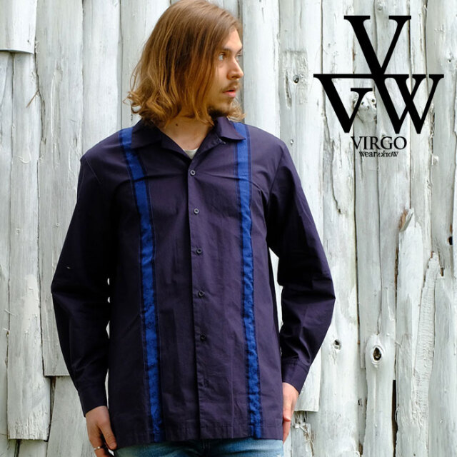 VIRGO ヴァルゴ バルゴ Middle Cuban shirt 【シャツ 長袖】【VG-SH-226】【2021SPRING&SUMMER】【お取り寄せ商品 キャンセル不可