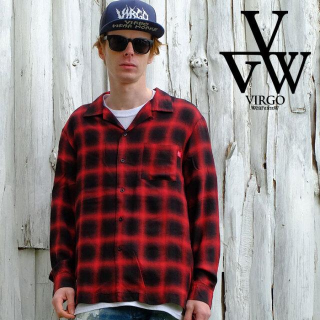 VIRGO ヴァルゴ バルゴ Vintage blurred shirts 【シャツ 長袖】【VG-SH-227】【2021SPRING&SUMMER先行予約】【キャンセル不可】【