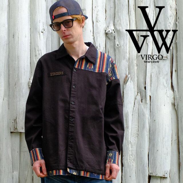 VIRGO ヴァルゴ バルゴ Native mix long shirts  【シャツ 長袖】【VG-SH-228】【2021SPRING&SUMMER先行予約】【キャンセル不可】