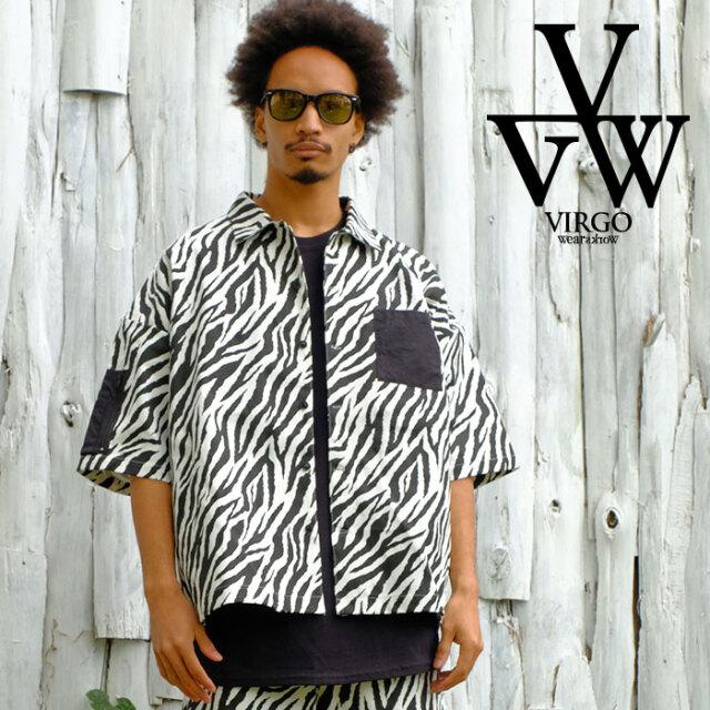 VIRGO ヴァルゴ バルゴ Naughty zebra shirts 【シャツ 半袖】【VG-SH-229】【2021SPRING&SUMMER先行予約】【キャンセル不可】【VI