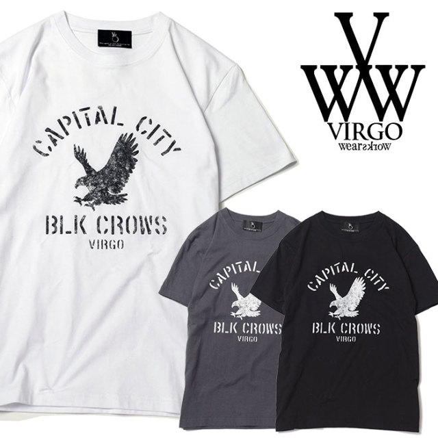 VIRGO ヴァルゴ バルゴ CITY CROWS【VALIANT】 【2019 SUMMER&EARLY FALL先行予約】 【VG-SSPT-218】【キャンセル不可】【Tシャツ