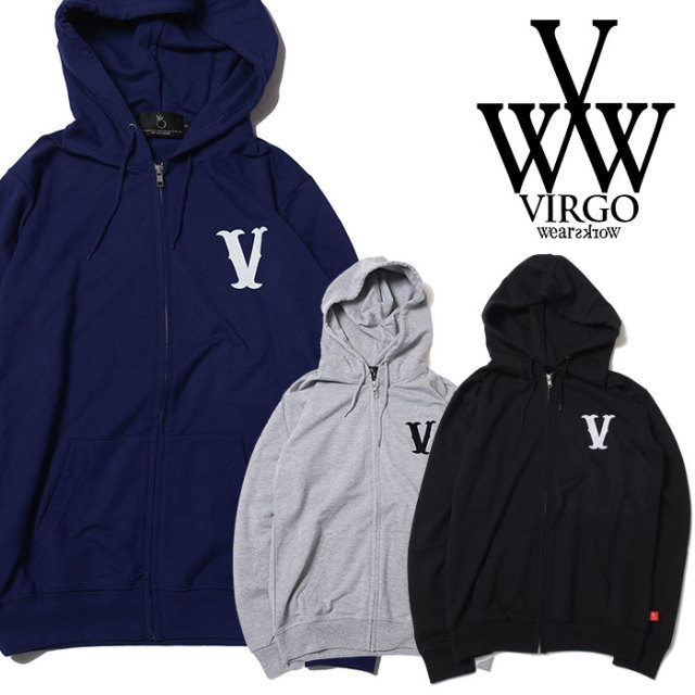 VIRGO ヴァルゴ バルゴ LIGHT ZIP V MARK PARKA 【2019 SUMMER&EARLY FALL先行予約】 【VG-SWT-118】【キャンセル不可】【パーカ