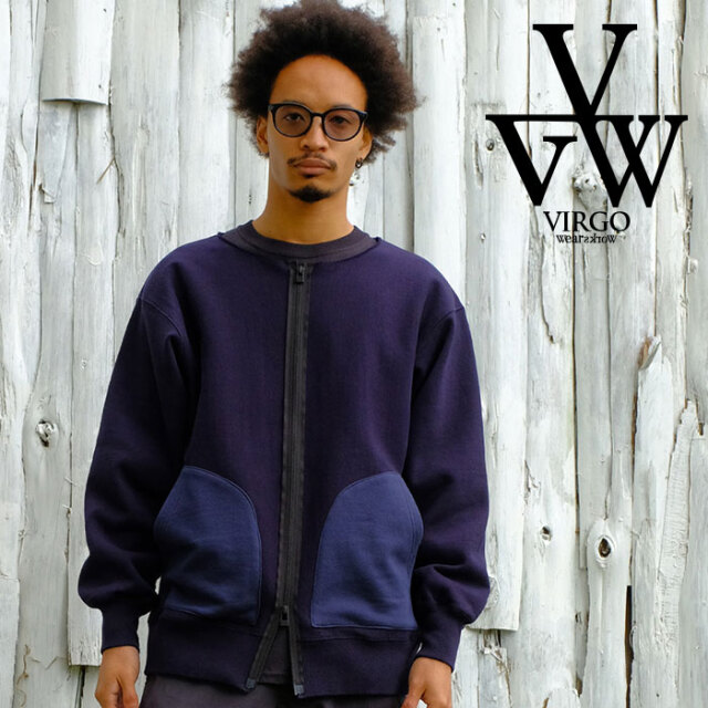 VIRGO ヴァルゴ バルゴ Upright zip swt 【スウェット ジップアップ】【VG-SWT-133】【2021SPRING&SUMMER新作】【VIRGOwearworks】
