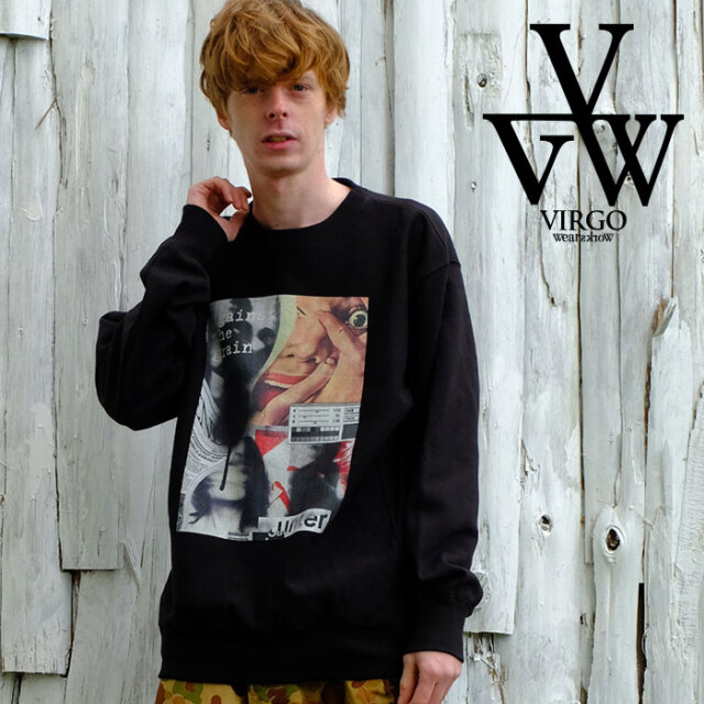 VIRGO ヴァルゴ バルゴ Loose big swt 【スウェット 】【VG-SWT-134】【2021SPRING&SUMMER先行予約】【キャンセル不可】【VIRGOwea