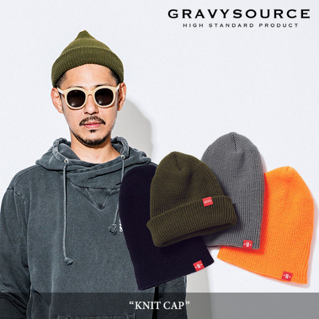 【SALE30%OFF】 GRAVYSOURCE(グレイヴィーソース) KNIT CAP 【2017AUTUMN/WINTER新作】 【即発送可能】 【GS17-ACP04】