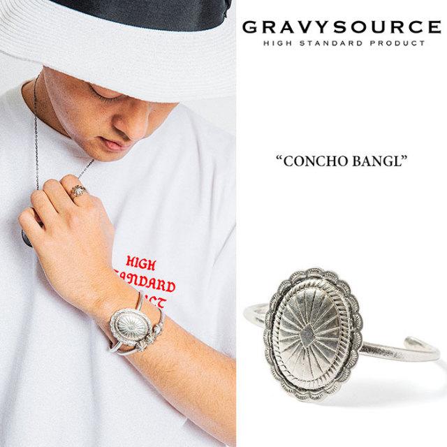 GRAVYSOURCE(グレイヴィーソース) CONCHO BANGLE 【2019HOLIDAY/SPRING先行予約】【キャンセル不可】 【GRAVYSOURCE バングル】【