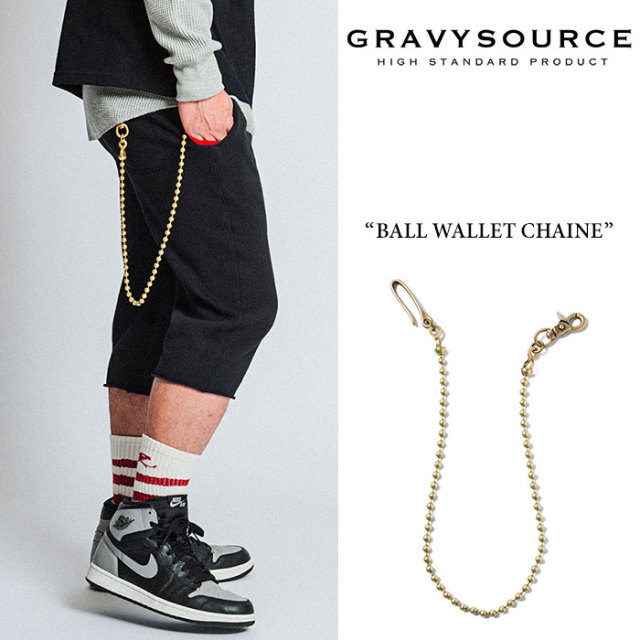 【SALE30%OFF】 GRAVYSOURCE(グレイヴィーソース) BALL WALLET CHAINE 【2017AUTUMN/WINTER新作】 【即発送可能】 【GRAVYSOURC