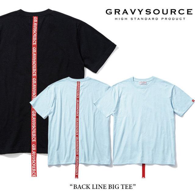 【SALE 50%OFF】 GRAVYSOURCE(グレイヴィーソース) BACK LINE BIG TEE 【2017SUMMER新作】 【即発送可能】 【GRAVYSOURCE Tシャ