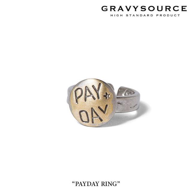 GRAVYSOURCE(グレイヴィーソース) PAYDAY RING 【2017SPRING/SUMMER】 【即発送可能】 【GRAVYSOURCE(グレイヴィーソース) リン