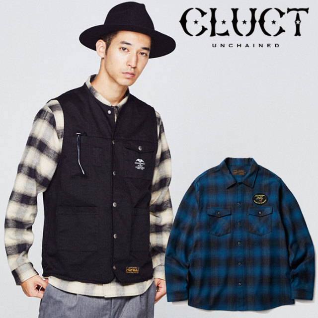 【SALE30%OFF】 CLUCT(クラクト) L/S FLANNEL CHECK SHIRT 【2018HOLIDAY新作】 【チェックシャツ】【#02806】